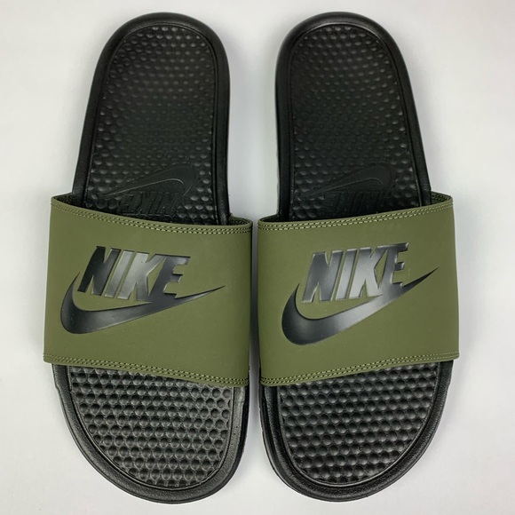 Prisionero de guerra patrón Relativo  Nike Shoes | Nwob Nike Benassi Jdi Mens Slides Sandal Green 2 | Poshmark
